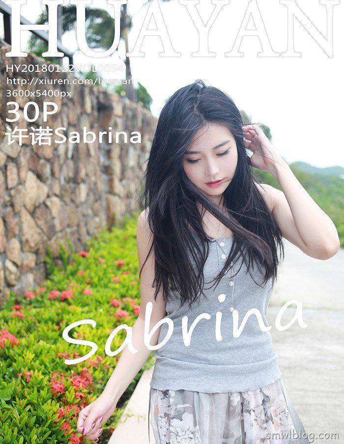 [HuaYan花の颜]2018.01.22 VOL.054 许诺Sabrina[30+1P/167M]
